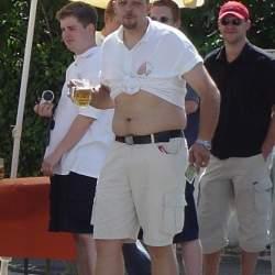 2003: 12.07. Beachparty der Kerweborsch vum Donauschwabenhof vor der Kibar